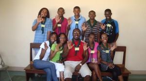 Jovens da Paróquia de Nossa Senhora do Socorro, A. de S. António, durante a Assembleia Diocesano, Ilha do Foogo (2010)